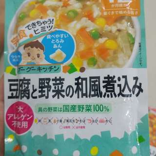 Wakodo Baby Food for 12 months (Tofu & Vegetable Japanese Sauce flavor)