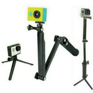 3 Way Monopod For GoPro Ready Stok