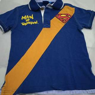 Superman collar t- shirt (size 6)