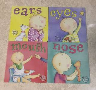 Lot of 4 Brimax Baby Face Books - Ears, Eyes, Mouth, Nose