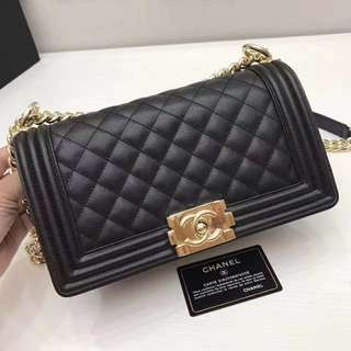 Chanel gold hardware boy bag