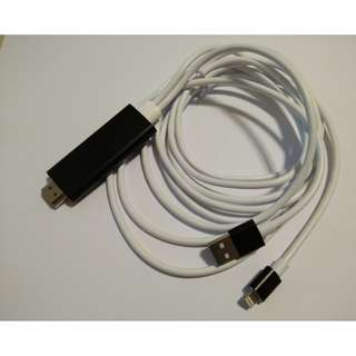 (In Stock) Metal Casing Lightning to HDMI Cable