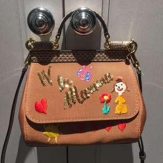 Authentic Dolce & Gabbana D&G Mini Sicily Viva La Mamma bag