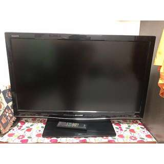 "Sharp Aquos 34"" LCD Colour Flat Screen Television"