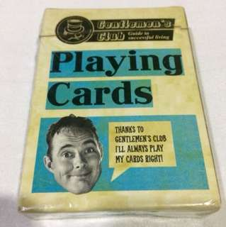 Classic Mens Playing Cards