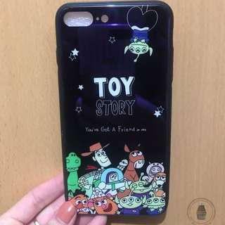 Iphone 7/8 plus case toys story 藍光面硬殻