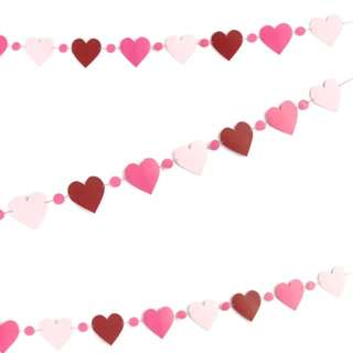 Party Flags - Lovely Paper Heart Garland