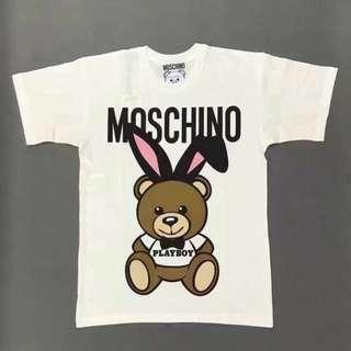 JuJu愛買 Moschino play boy 兔子 短袖小熊t 保證真品 代購