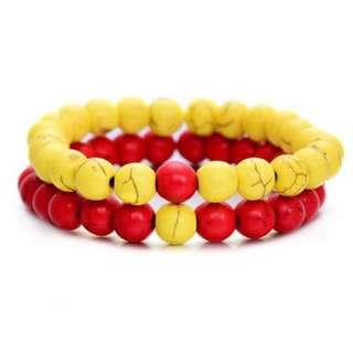 Distance bracelet set (stone beads)