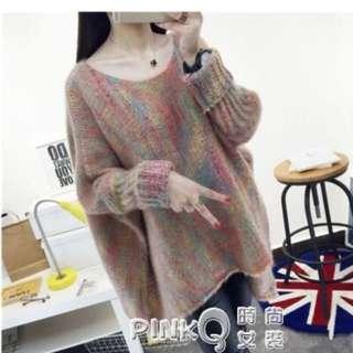 🚚 彩色針織毛料衣