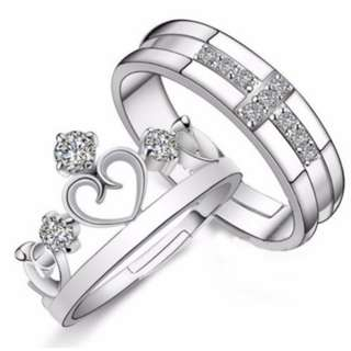Prince and Princess Silver Plated Ring