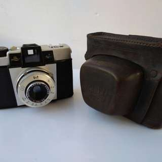 Agfa Isoly II vintage German Lomo camera with original Agfa Leather case working 1960 model  Agfa Isoly II GERMAN LOMOGRAPHY VINTAGE ANTIQUE FILM CA 1960 model