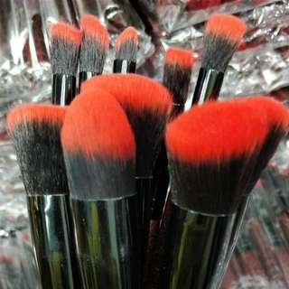 Red Kabuki Brushes 10pcs