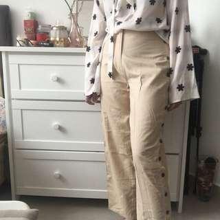 Shopatvelvet open side beige culottes