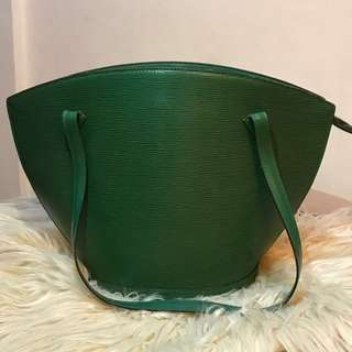 Authentic Louis Vuitton EPI Green Saint Jacques GM bag