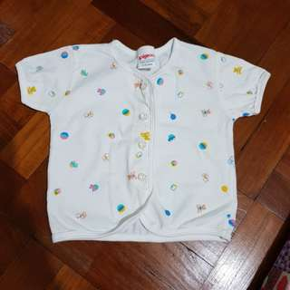 Baby front button top