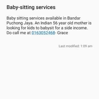 Baby-sitting Advertisement #midjan55