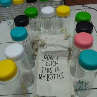 My bottle + pouch