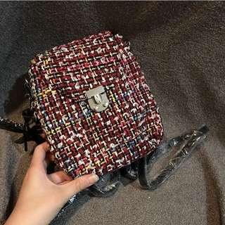 Original zara backpack knitted red