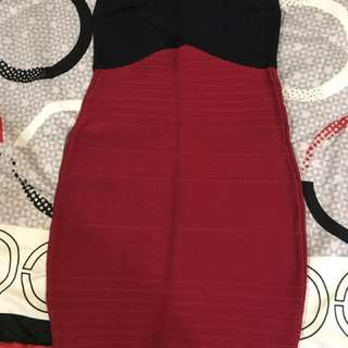 Red/Black Short Dress