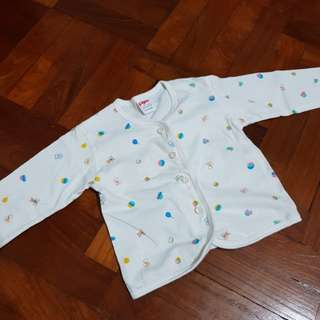 Baby long sleeve front button top