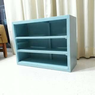 vintage baby blue shelves bookshelves display wooden shelves ready to hang