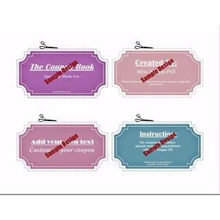 Customise Coupon Book