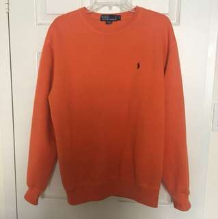 Orange Ralph Lauren Polo Crewneck