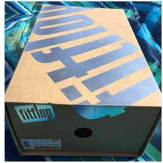 Women's FitFlop Sanda Toepost With Studs Tan Shoe Box -US8