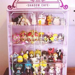 Etude House Shadow Cafe makeup storage box closet display case figurine toy vinyl in Pinkk