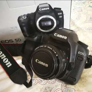 Canon 5D mark ii with 50mm portrait lens
