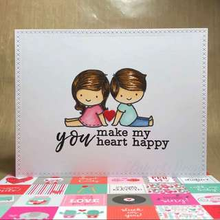 Valentines day card - Design Couple F