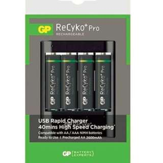 GP Batteries ReCyko+ Pro 4'S AA 2600mAh+U421