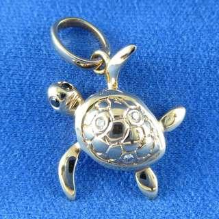 KALVION 18K/750 玫瑰色黃金鑽石吊墜 ‧ 小海龜