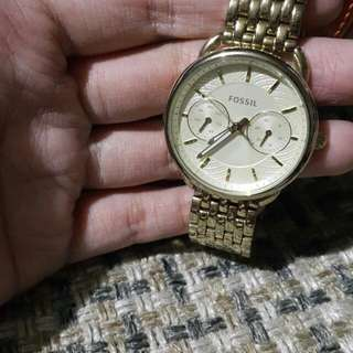 Original Fossil Gold Plated