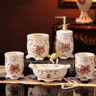 Hot🔥歐式陶瓷洗手間套裝