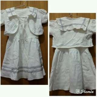 Dress Anak Putih Guess