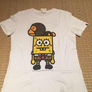 BAPE海棉寶寶聯名T恤(女)