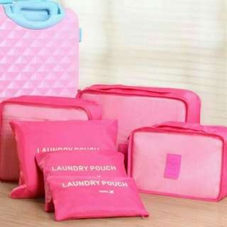 Traveling Bag in Bag Organizer (1 set isi 6 pcs )