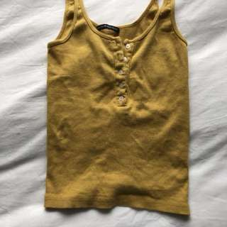 Yellow Brandy tank NEVER WORN