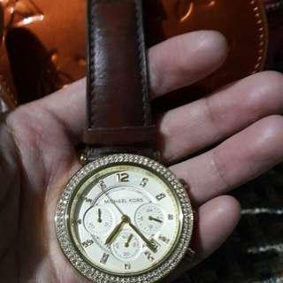 Original Michael Korrs Brown Leather Strap
