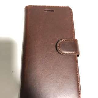 🍀全新獨一無二.Handmade 純真皮 iPhone 7  手機殼(可放卡及可拆式機殼設計)一聞便知是真皮