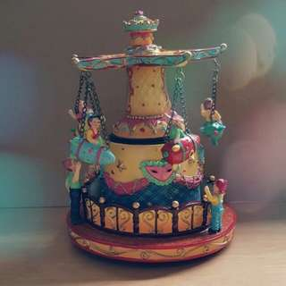 Vintage Hand Painted Musical Wind Up