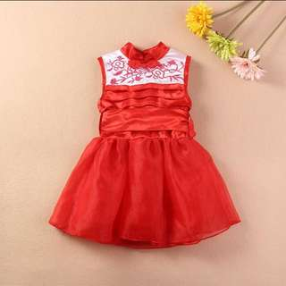 DRESS RED CHEONGSAM