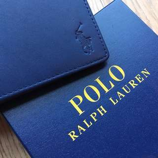 [RS] Polo Ralph Lauren blue leather billfold wallet