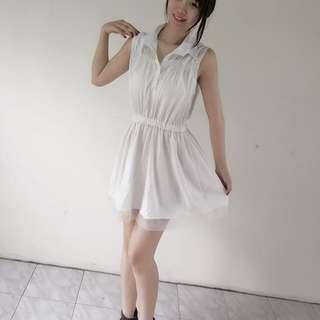 🚚 白色無袖洋裝