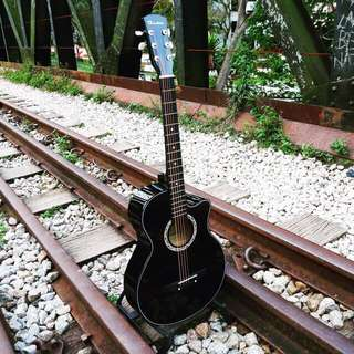 SALES! Brand New Black Acoustic Guitar