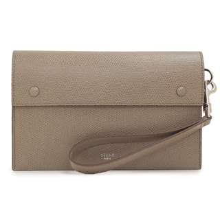 Authentic Celine - Taupe Accordion Travel Clutch (Preloved)