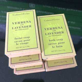 Crabtree & Evelyn facial and bath soap