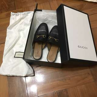 Gucci leather pricetown slipper